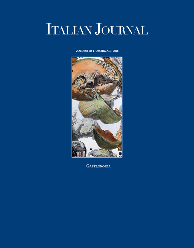 Italian Journal 13: Gastronomia
